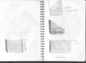 Concept Sketch of WOO stairs